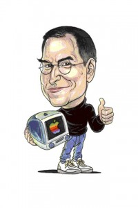 Steve Jobs caricature