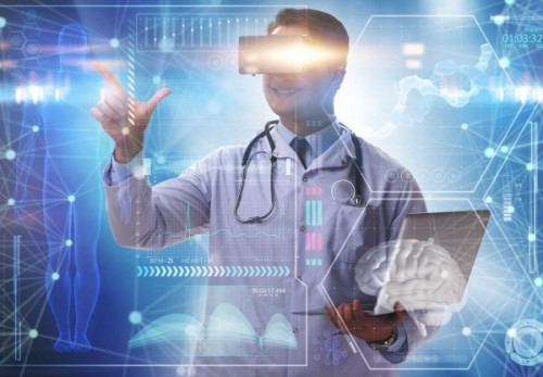 81367868 - telemedicine concept with doctor wearing vr glasses
